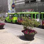 tourist train , strip -old town-shopping center