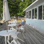 a nice deck for morning caffee