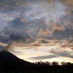 Nice dusk shot of the volcano