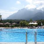Main village pool view toward the mountains