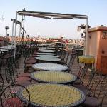 la terrasse (buffet le soir)