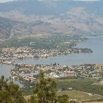 Morning view of Osoyoos from Anarchist lookout