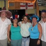 The Hat Night - Alex the barman in the middle!
