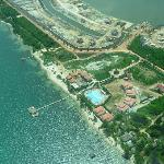 Aerial photo of the resort