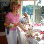 Rosemary serving breakfast