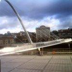 Mal over the bridge from Gateshead
