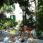 the lovely breakfast terrace