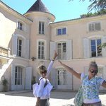 the girs and the Chateau d' Alpheran