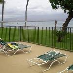 Oceanview from Pool Patio Lounge area (large rectangle pool behind lounge chairs - not in...