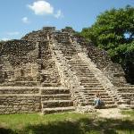 Impressive Mayan ruins at Chacobben