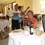 Mandolin Player in Hotel Restaurant