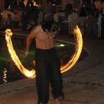 The fire dancers the night before our ceremony.