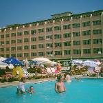 l'hotel vue de la piscine