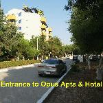 Entrance to Opus Hotle