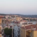 View towards town from terrace