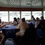 Dining on the lower deck- Bay Queen