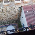 looking down from our bedroom