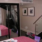 Dormitorio de la habitación.
