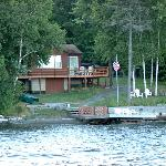 View of The Cozy Moose from the lake.