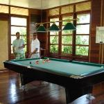 Moksen and my husband playing pool