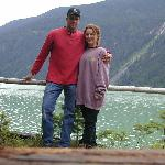 Mike and Betsy in front of lodge