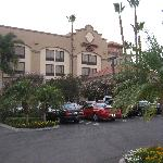 The Front of the hotel.