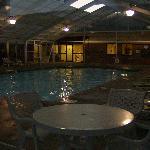Outside enclosed Pool Area