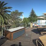 Panorama view at the pool