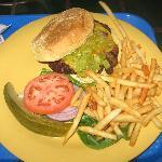 Green chili cheeseburger @ The Burrito Company