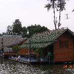One of the small Bungalows from the lakeside