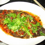 Whole thai-style flounder (I think I prefer snapper)