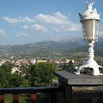 Blick von der Hotelterasse auf La Seu