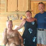 Owners, Helena, Bob and their friend Vern
