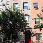 Studio is (sub)ground floor of attractive brownstone