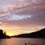 Sunset on Coeur d'Alene Lake
