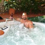 The Jacuzzi...of course w/beer in hand