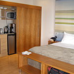 The room showing the kitchenette