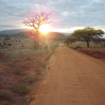 sunset in tsavo