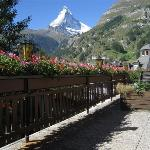 View of the Matterhorn from the Hotel Terrace