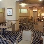 The refurbished bar area