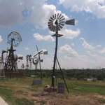 Outside display area at the American Wind Power Center