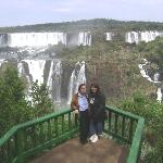 My mom and I looking just a little part of the Iguazu Falls-Brazil
