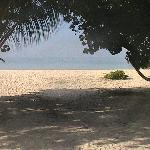 the beach from our villa