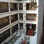 Courtyard and breakfast area.