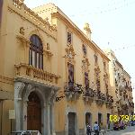 The restored buildings in Old Trapani