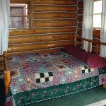 1 of 2 dbl beds, Rustic Cabin