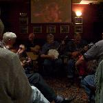 Jam session at a local pub - mandolins, squeeze boxes, harmonicas, banjos...but no bagpipes