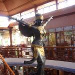 the Garuda/flying figurine