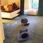 A damaged room (post flood)