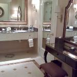 Wash basin & dressing table. Only run of the mill toiletries are supplied.